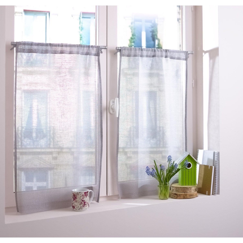1 barre vitrage extensible sans per age presto basic blanc 30 45 cm ler - Barre extensible leroy merlin ...