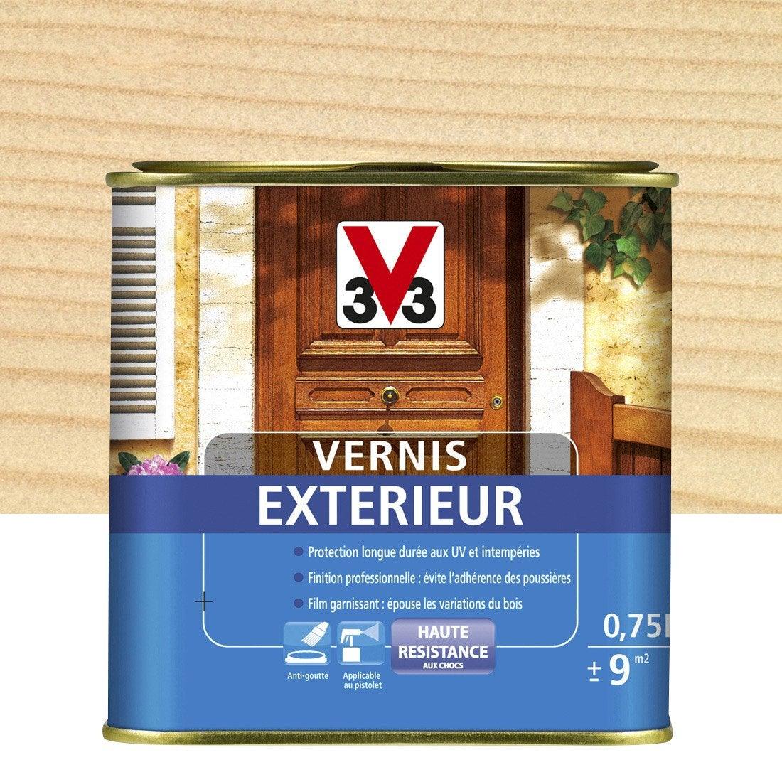 vernis v33 2 5 l incolore leroy merlin. Black Bedroom Furniture Sets. Home Design Ideas