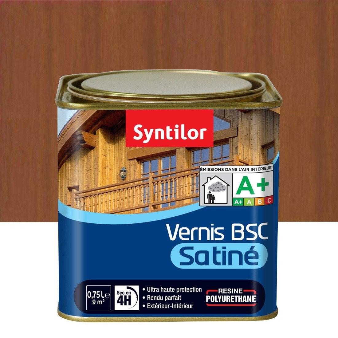 vernis syntilor vernis bois syntilor 0 75l satin chen moy l ch ne moyen leroy merlin. Black Bedroom Furniture Sets. Home Design Ideas