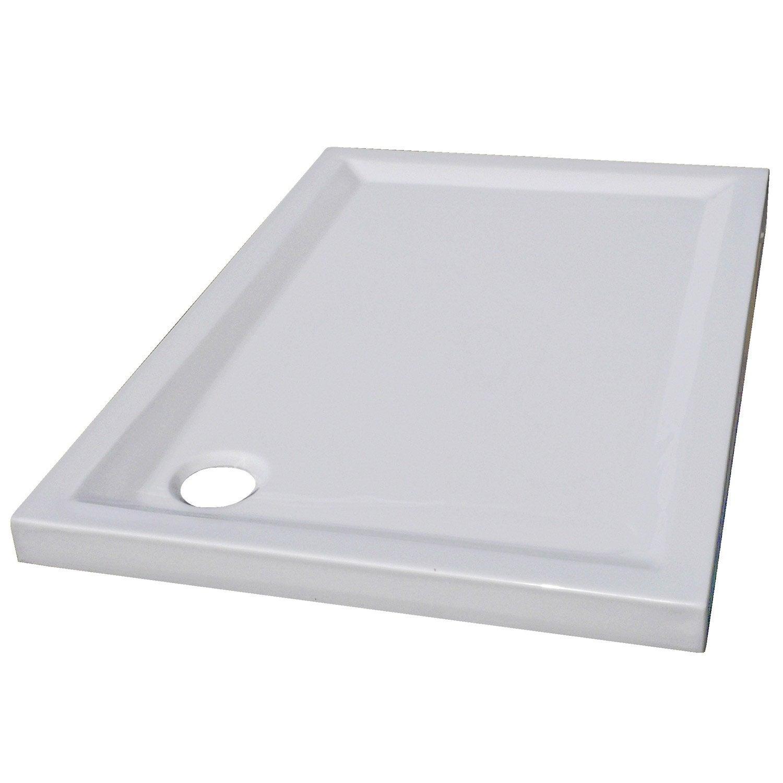 receveur de rectangulaire l 100 x l 80 cm acrylique blanc houston leroy merlin