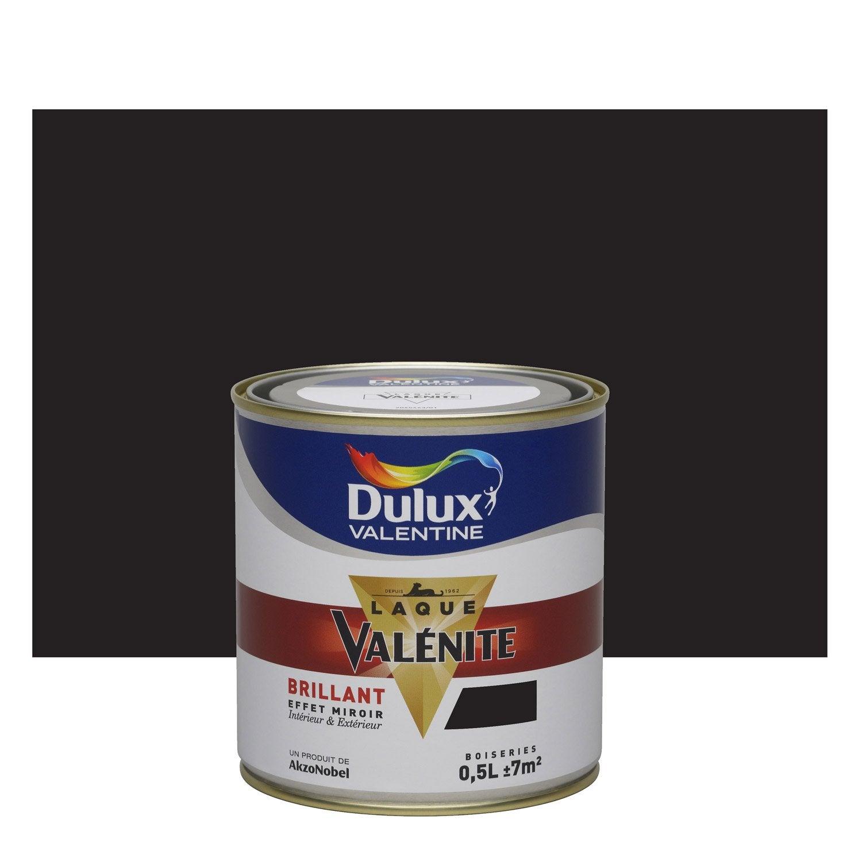 Peinture noir dulux valentine val nite 0 5 l leroy merlin for Prix peinture dulux valentine