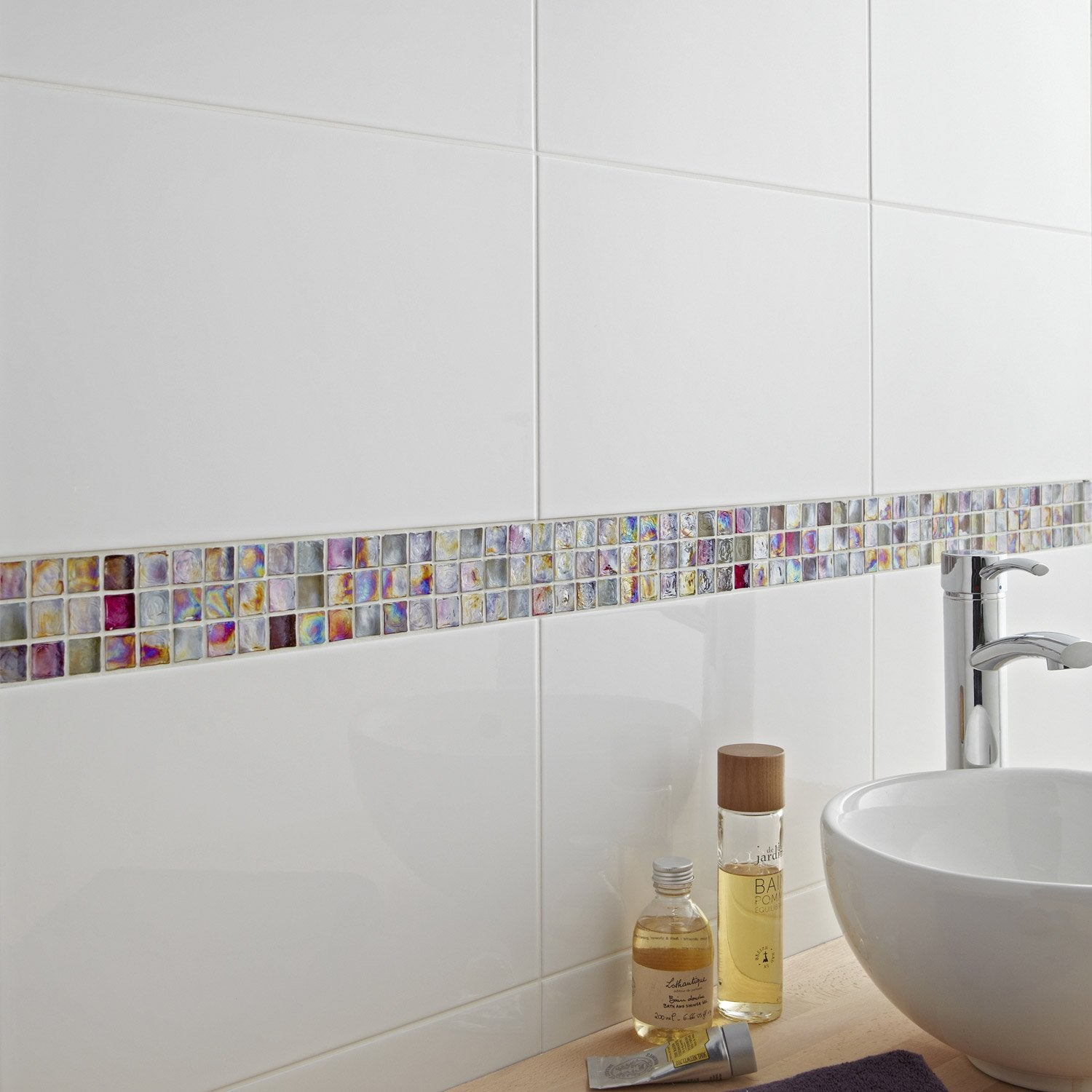 Mosa que mur ice flou rose leroy merlin - Mosaique adhesive leroy merlin ...