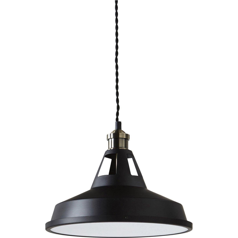 Suspension led design mineko m tal noir 1 x 14 w inspire leroy merlin - Suspension led leroy merlin ...