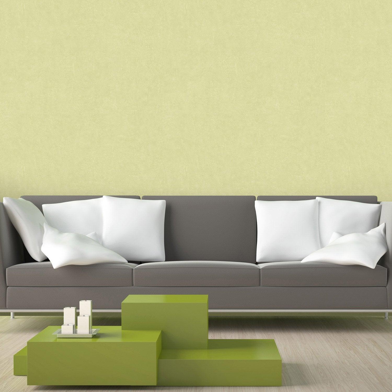 Papier peint intiss beton mat vert leroy merlin - Papier peint beton ...