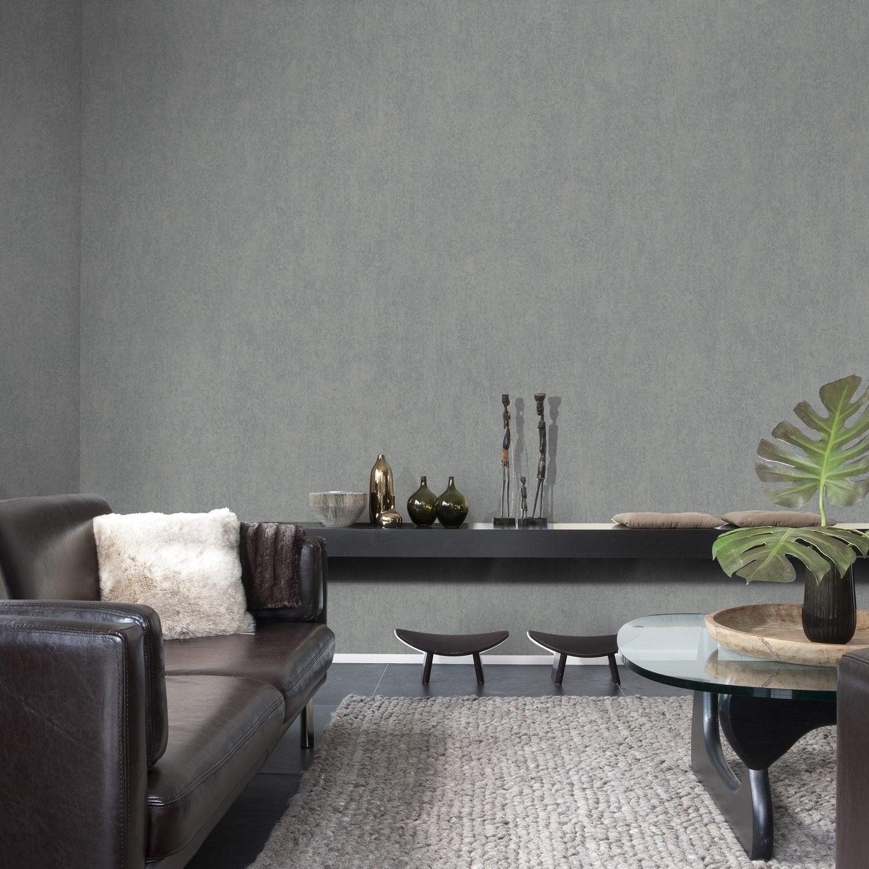 papier peint intiss messina gris fonc leroy merlin. Black Bedroom Furniture Sets. Home Design Ideas