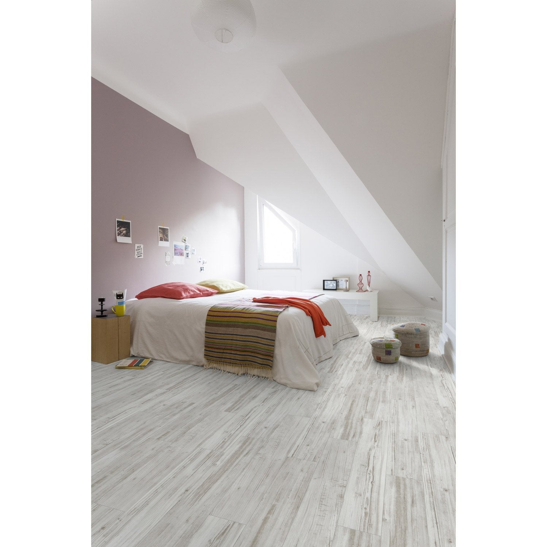 lame pvc clipsable blanc wood2 senso lock 20 gerflor leroy merlin. Black Bedroom Furniture Sets. Home Design Ideas