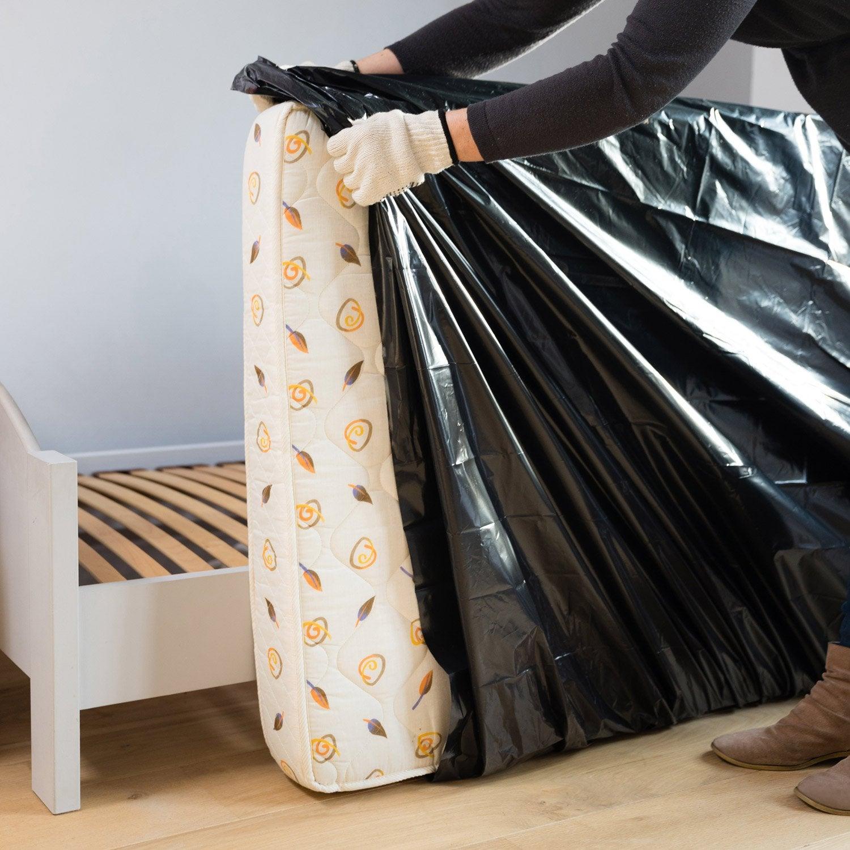 housse de protection opaque pour matelas 1 personne 230x100x22cm leroy merlin. Black Bedroom Furniture Sets. Home Design Ideas