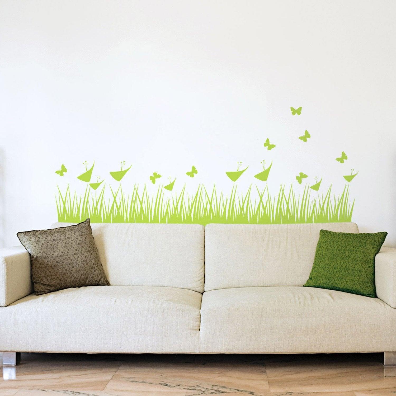 sticker haute herbe 50 cm x 70 cm leroy merlin. Black Bedroom Furniture Sets. Home Design Ideas
