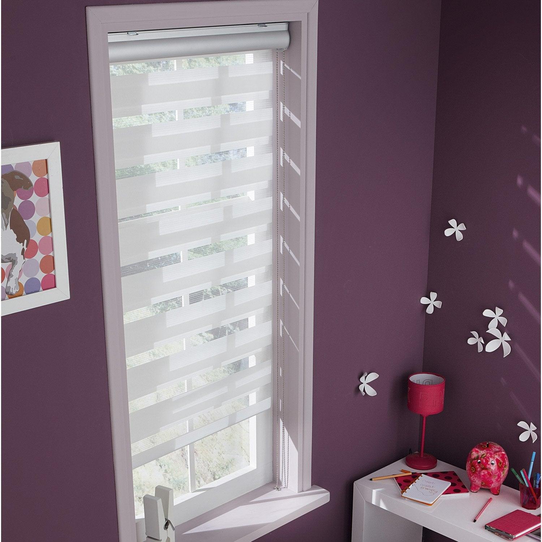 store enrouleur jour nuit coffre alu blanc blanc n 0 60x210 cm leroy merlin. Black Bedroom Furniture Sets. Home Design Ideas