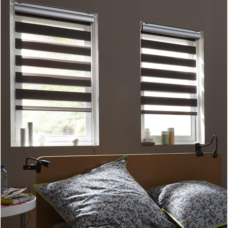 store enrouleur jour nuit polyester coffre alu gris anthracite 147 150 x 210 cm leroy merlin. Black Bedroom Furniture Sets. Home Design Ideas