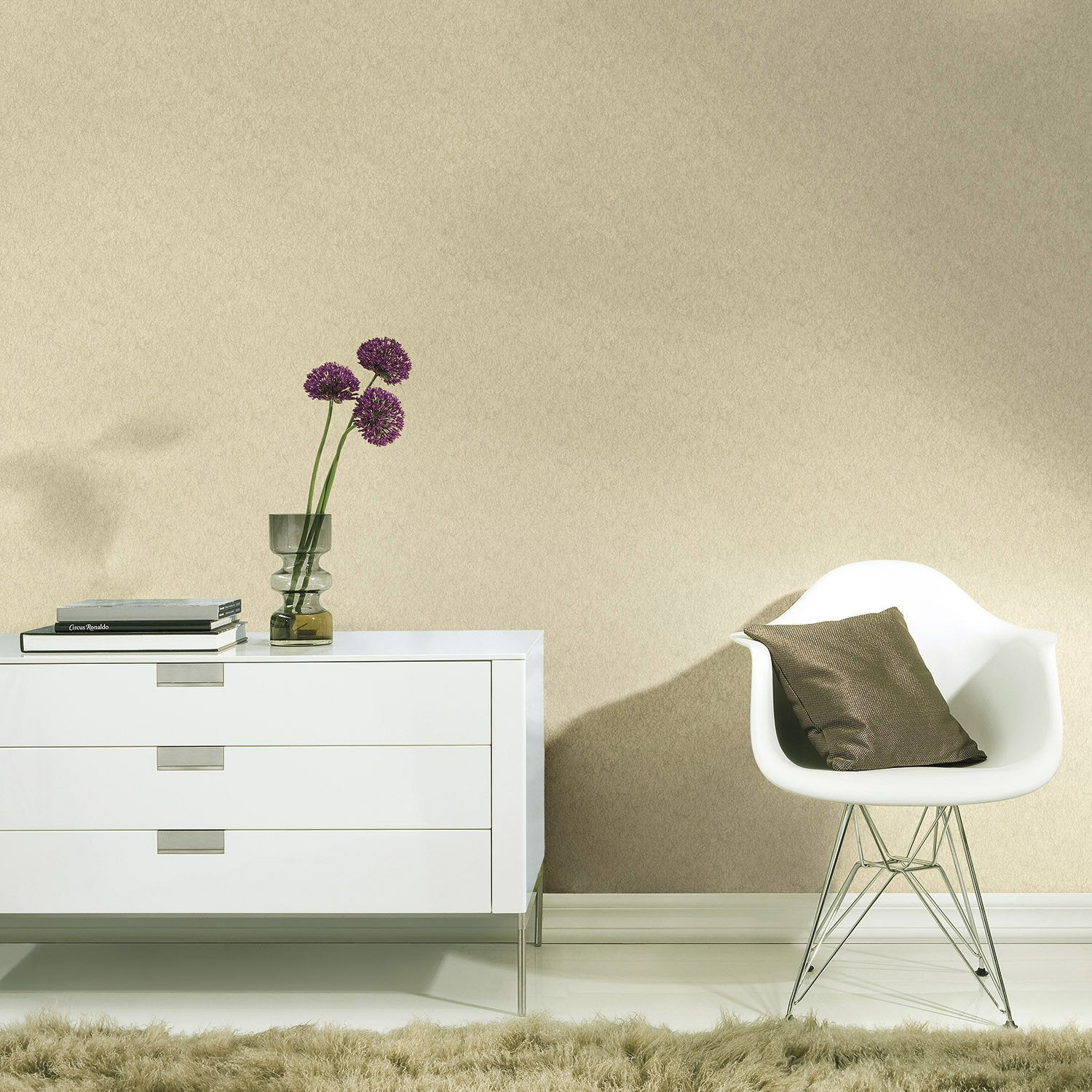 papier peint expans sur intiss palme uni beige leroy. Black Bedroom Furniture Sets. Home Design Ideas