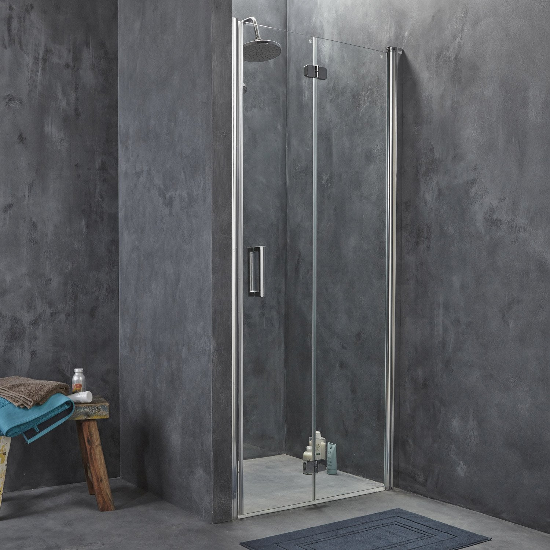 Porte de douche pivo pliante breuer entra verre de for Porte douche breuer
