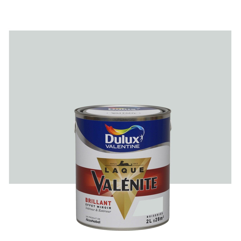 Peinture gris perle dulux valentine val nite 2 l leroy for Peinture gris perle leroy merlin
