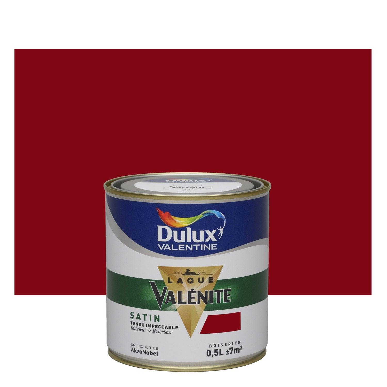 Peinture rouge basque DULUX VALENTINE Valénite 0.5 l ...