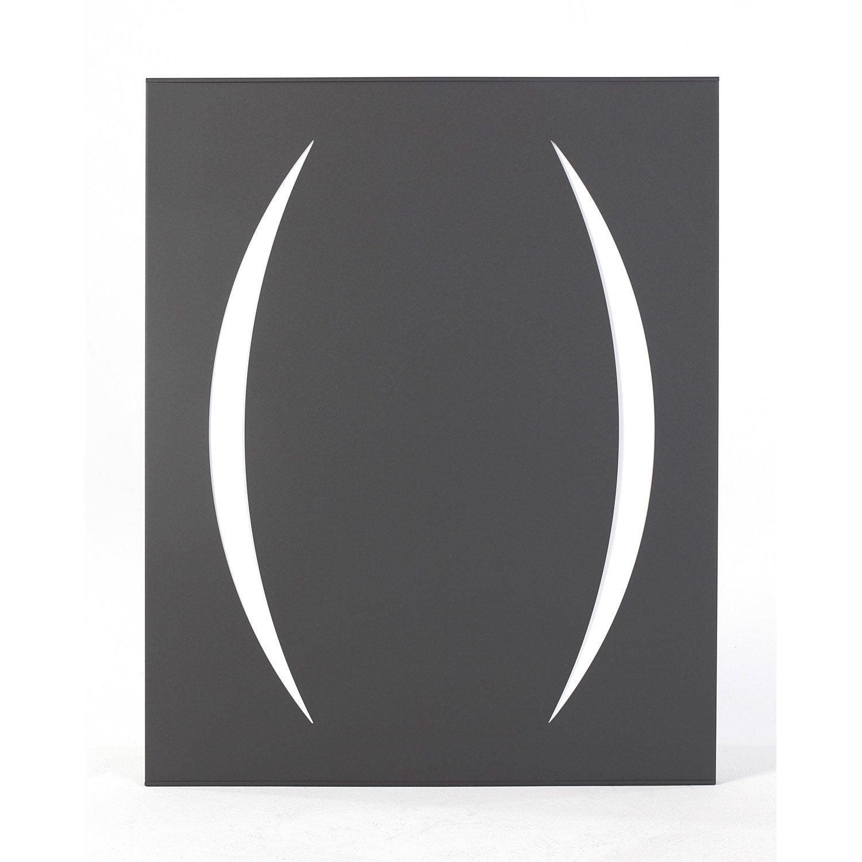 plaque de protection murale acier noir atelier dix neuf appollo x cm leroy merlin. Black Bedroom Furniture Sets. Home Design Ideas