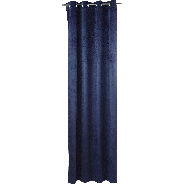 rideau blair bleu marine x cm leroy merlin. Black Bedroom Furniture Sets. Home Design Ideas