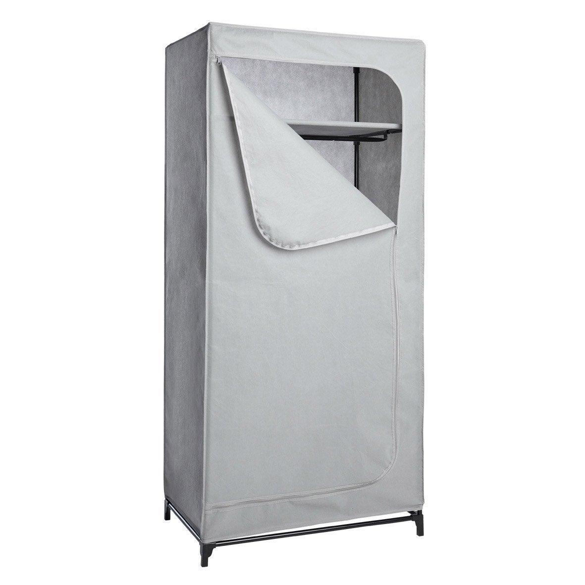 penderie housse gris acier et intiss spaceo x x cm leroy merlin. Black Bedroom Furniture Sets. Home Design Ideas