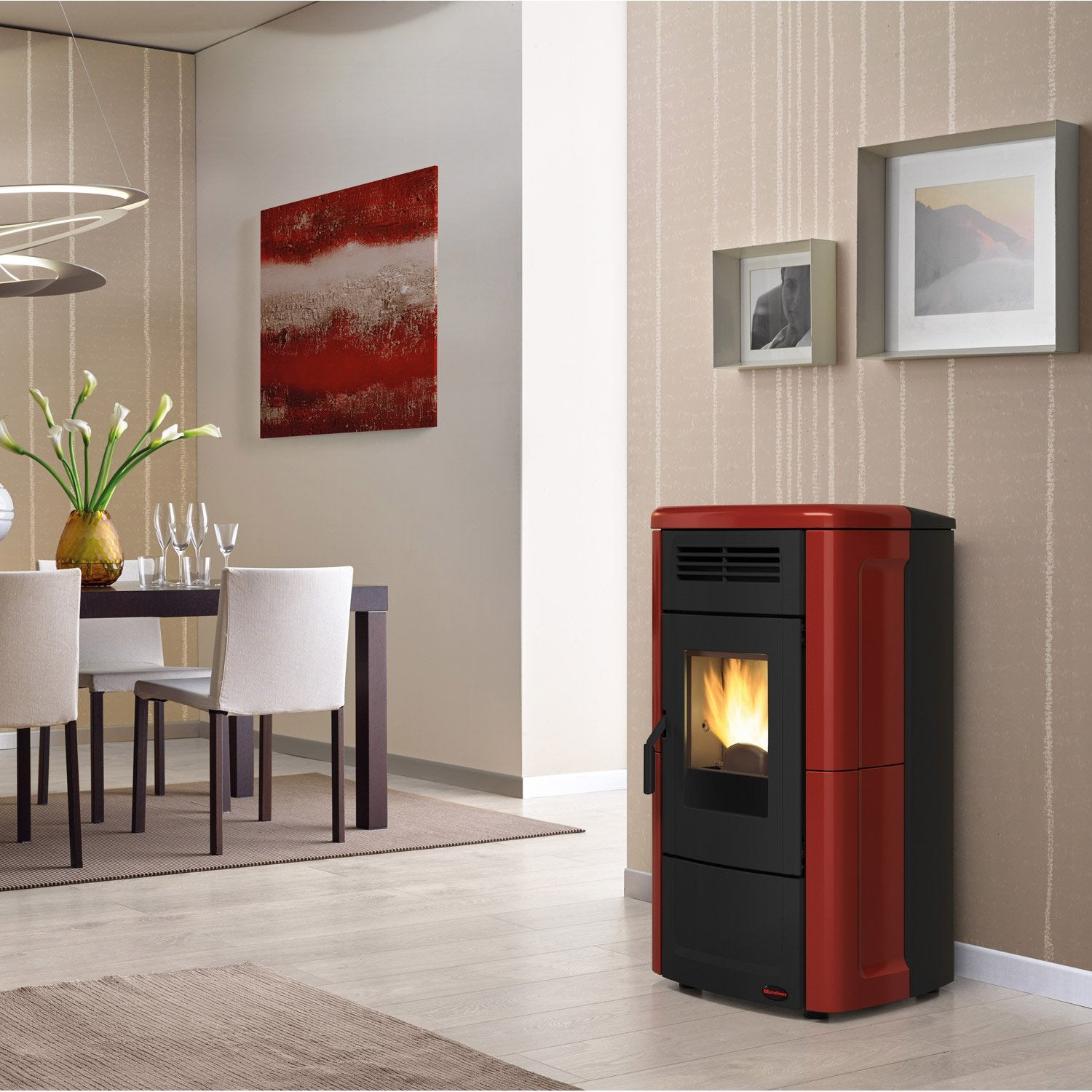 po le granul s extraflame novella plus bordeaux 10 kw leroy merlin. Black Bedroom Furniture Sets. Home Design Ideas