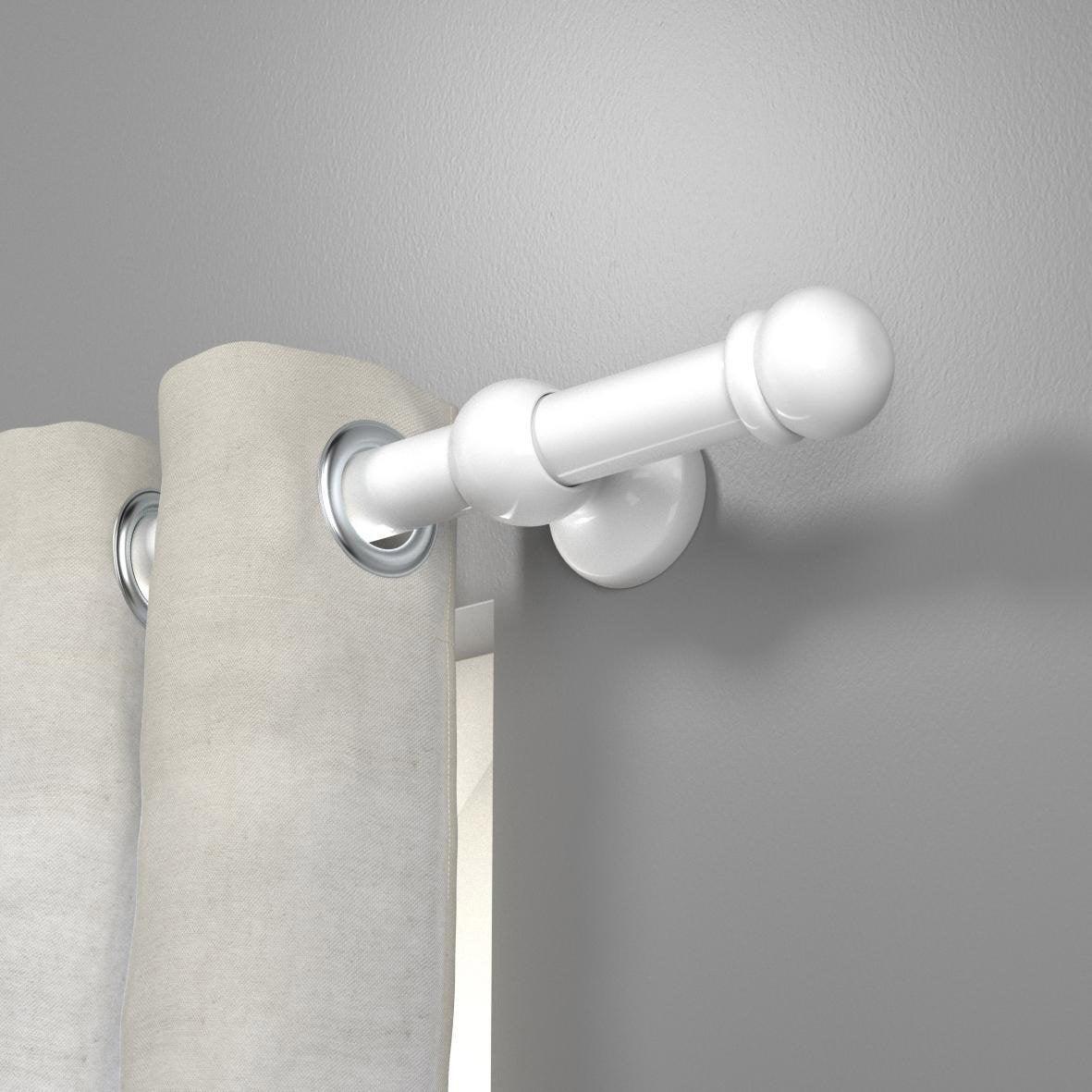 Lance rideaux tringle rideau 28 mm bois blanc inspire leroy merlin - Tringles rideaux sans percage leroy merlin ...