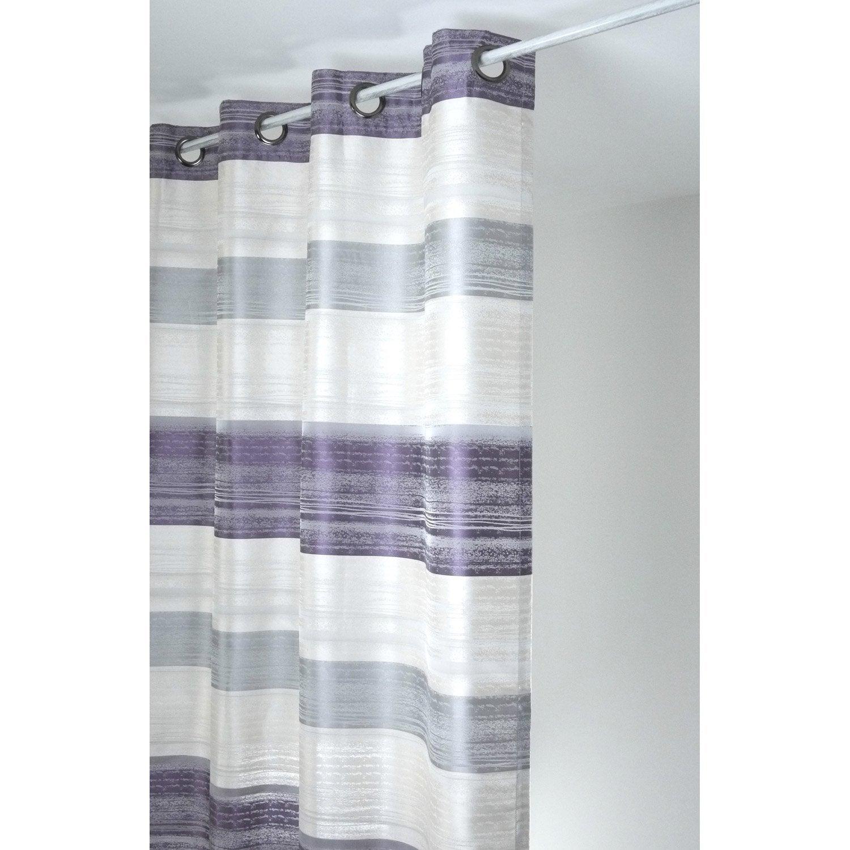 Rideaux violet gris great chambre avec rideau violet with for Rideau parme chambre fille