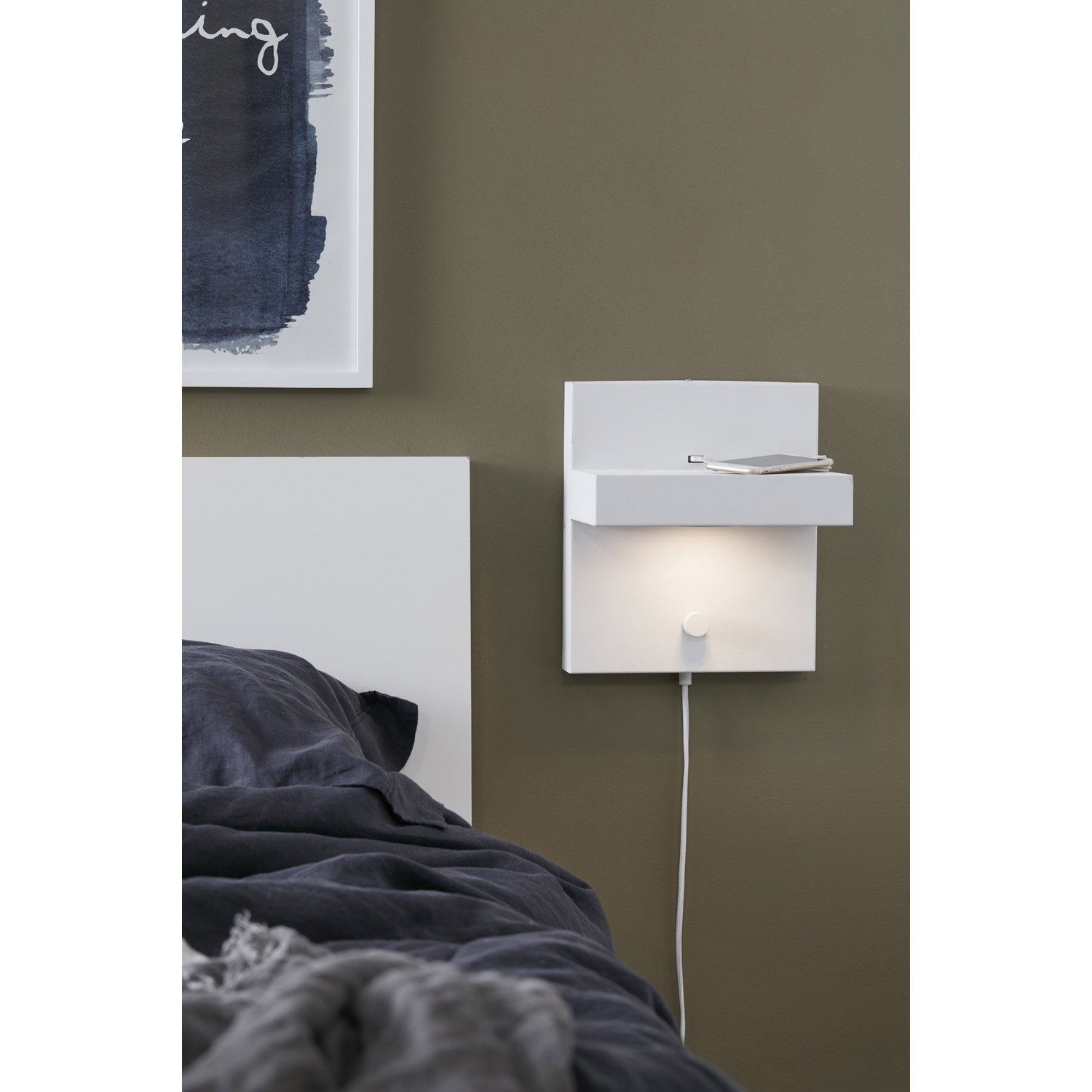 applique scandinave led int gr e m tal blanc 1 markslojd. Black Bedroom Furniture Sets. Home Design Ideas