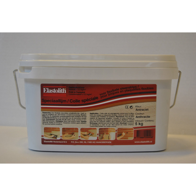 Colle et joint pour briques et plaquettes flexibles elastofix noir 5 kg l - Colle pour gazon synthetique leroy merlin ...
