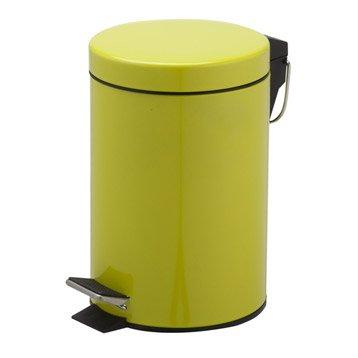 Poubelle de salle de bains 3l happy jaune anis n 3 leroy for Poubelle salle de bain leroy merlin