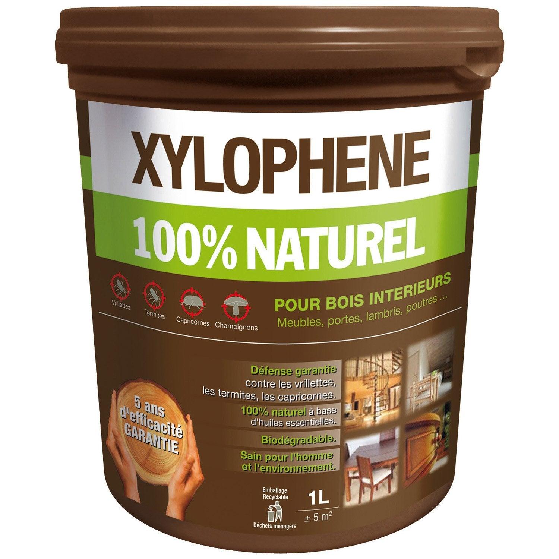 Traitement bois meuble, parquet et boiserie XYLOPHENE Bio protect 5 ans, 1 l Leroy Merlin # Traitement Bois Fongicide Insecticide