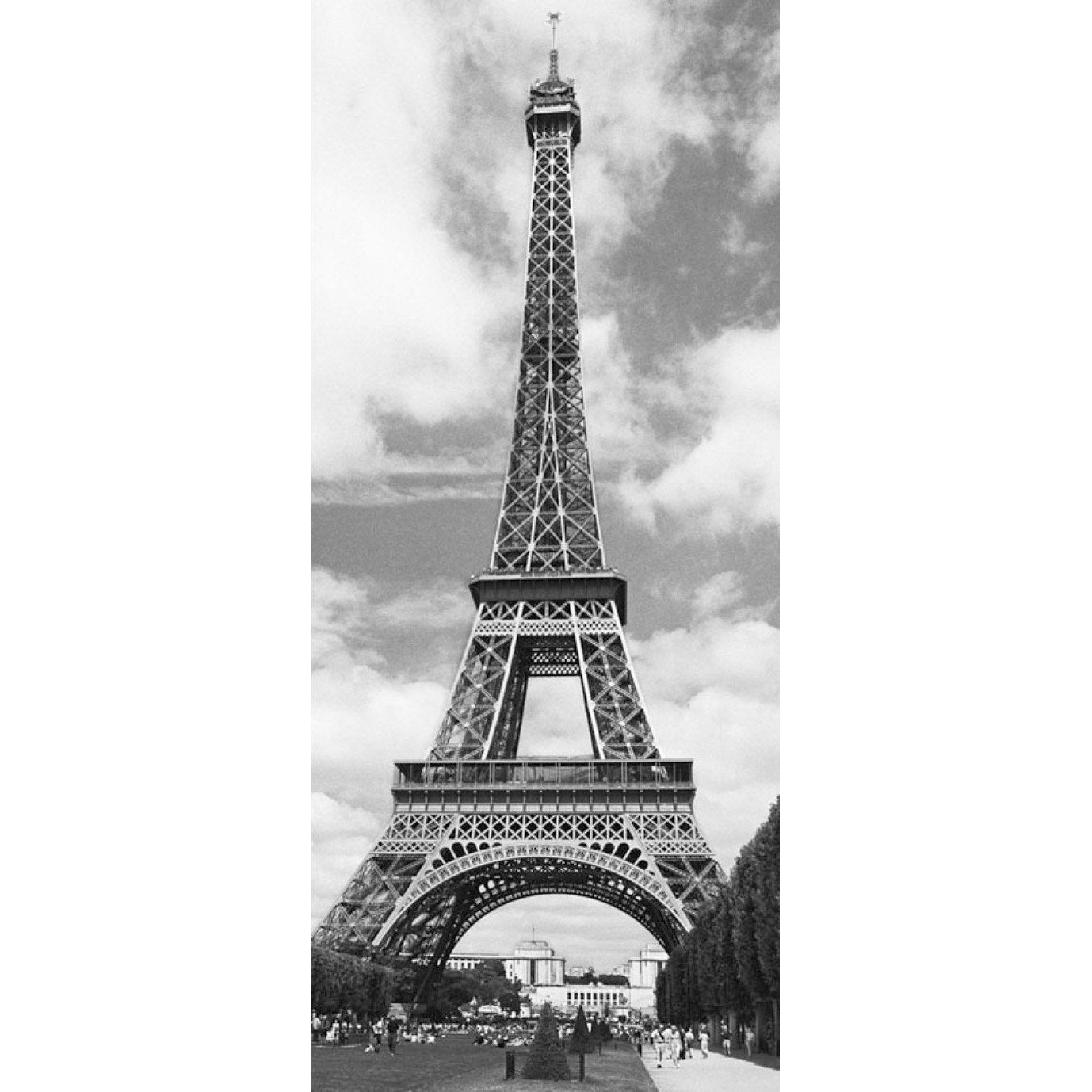 poster de porte tour eiffel x cm leroy merlin. Black Bedroom Furniture Sets. Home Design Ideas