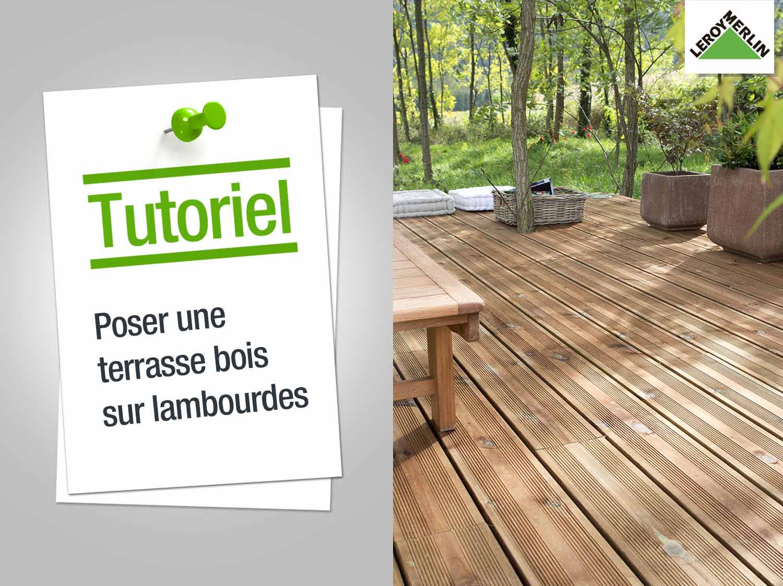 Comment poser une terrasse en bois sur lambourdes ? | Leroy Merlin