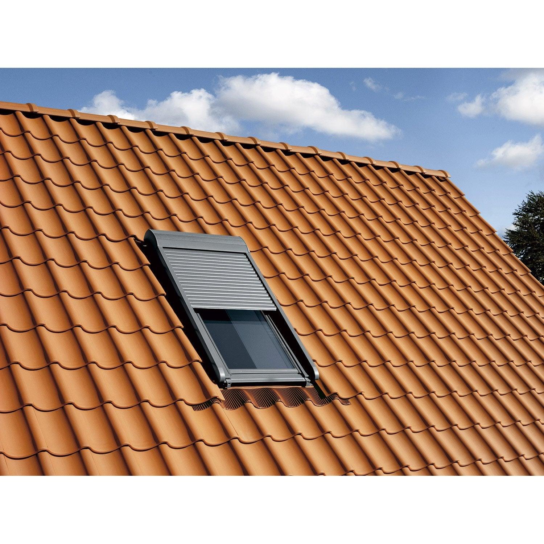 Volet fen tre de toit roulant lectrique velux sml sk06 - Toit de terrasse leroy merlin ...