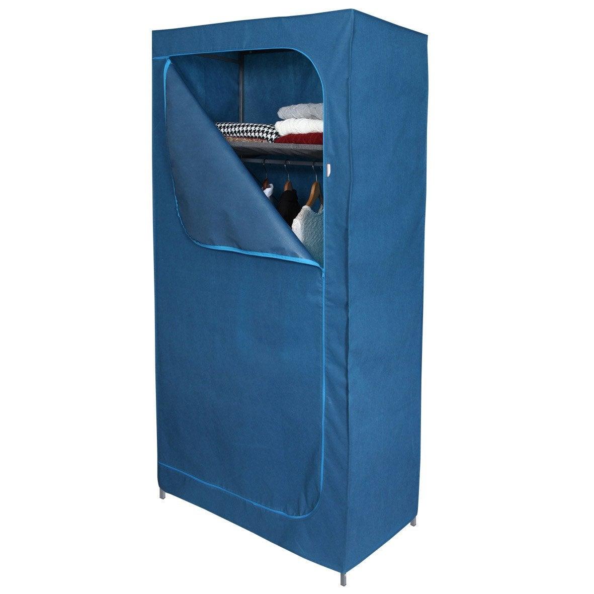 housse pour penderie bleu intiss spaceo x x p. Black Bedroom Furniture Sets. Home Design Ideas