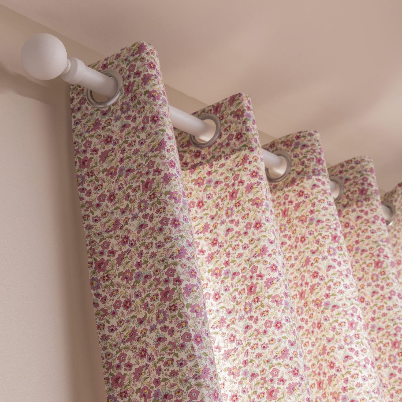 rideau tamisant fiora rose x cm inspire. Black Bedroom Furniture Sets. Home Design Ideas