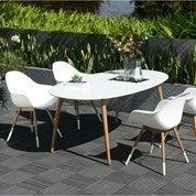 Salon de jardin Chamonix blanc, 4 personnes