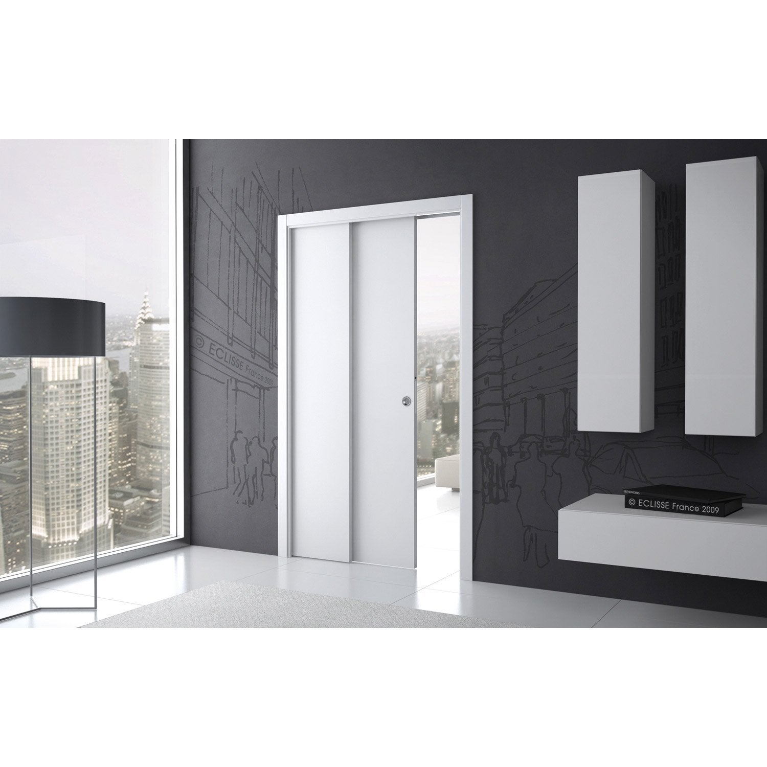 syst me galandage t lescopique eclisse pour porte de largeur 2 x 83 cm leroy merlin. Black Bedroom Furniture Sets. Home Design Ideas