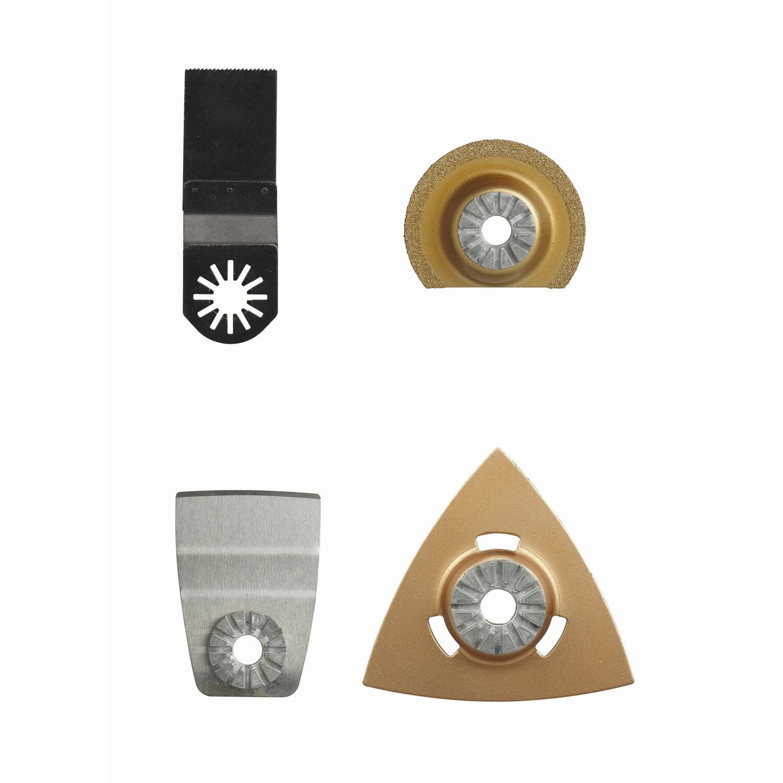 Set 4 accessoires carrelage universel pour multitool for Carrelage universel