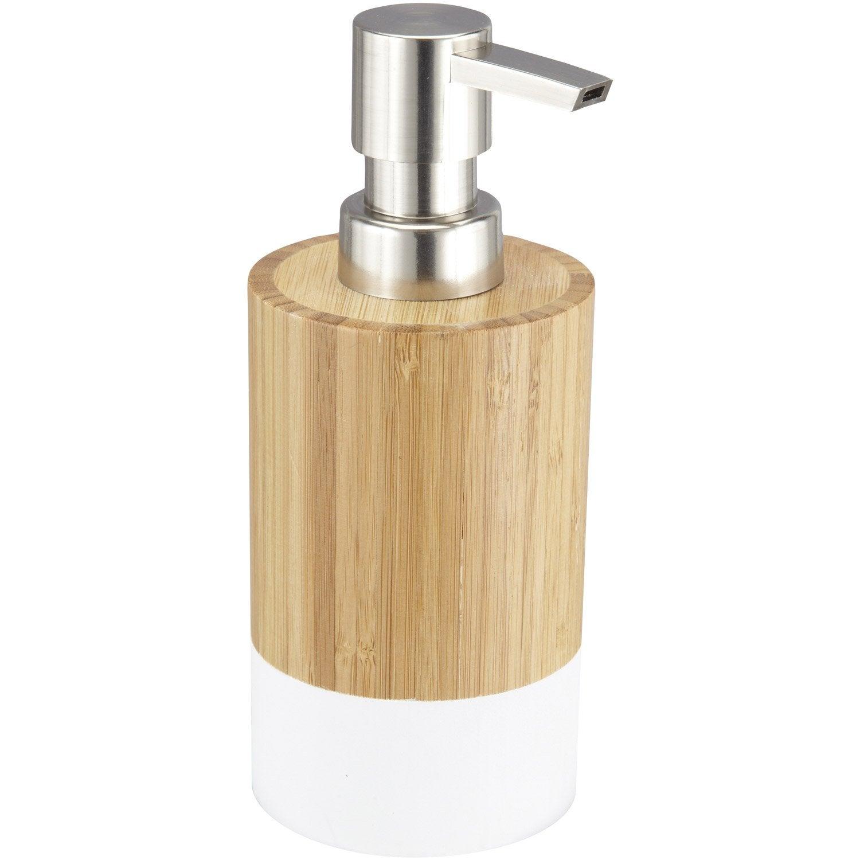 Distributeur de savon james blanc blanc 0 leroy merlin for Portillon en solde