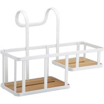 etag re de bain douche stockholm suspendre au combin blanc sensea leroy merlin. Black Bedroom Furniture Sets. Home Design Ideas