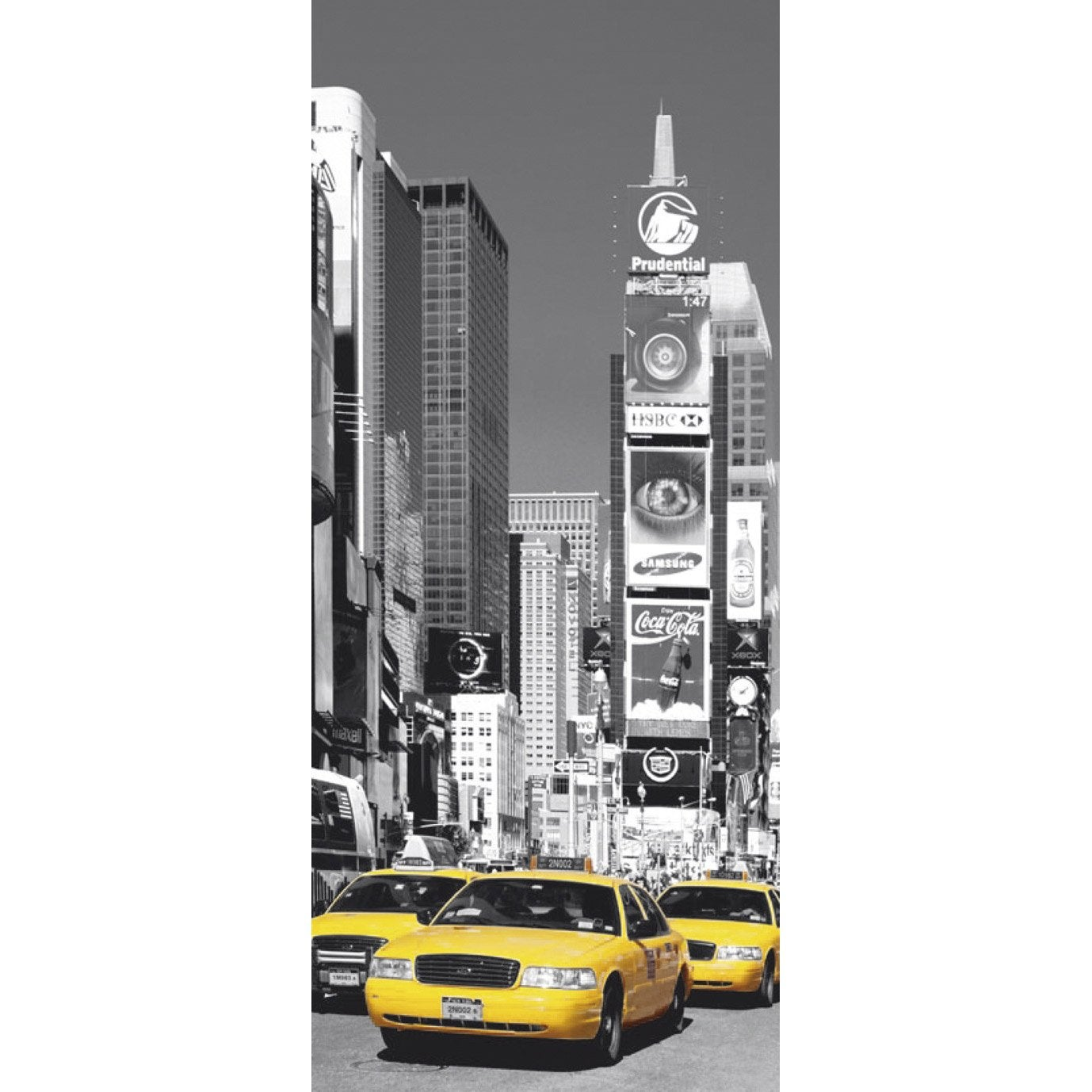 poster de porte nyc times square 86x200 cm leroy merlin. Black Bedroom Furniture Sets. Home Design Ideas