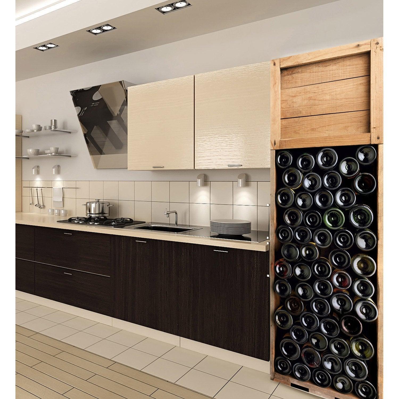 Sticker r frig rateur caisses de vin xl 59 5 x 180 cm - Caisse en bois leroy merlin ...