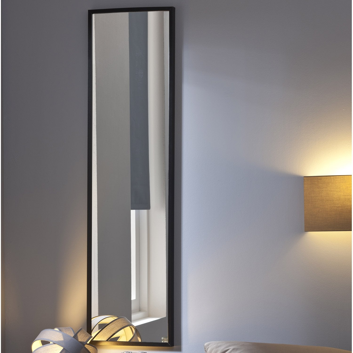 miroir lario inspire noir x cm leroy merlin. Black Bedroom Furniture Sets. Home Design Ideas