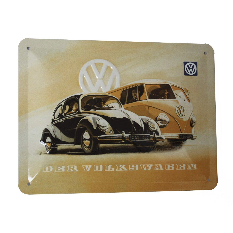 Plaque métal Wolkswagen l 20 x H 15 cm