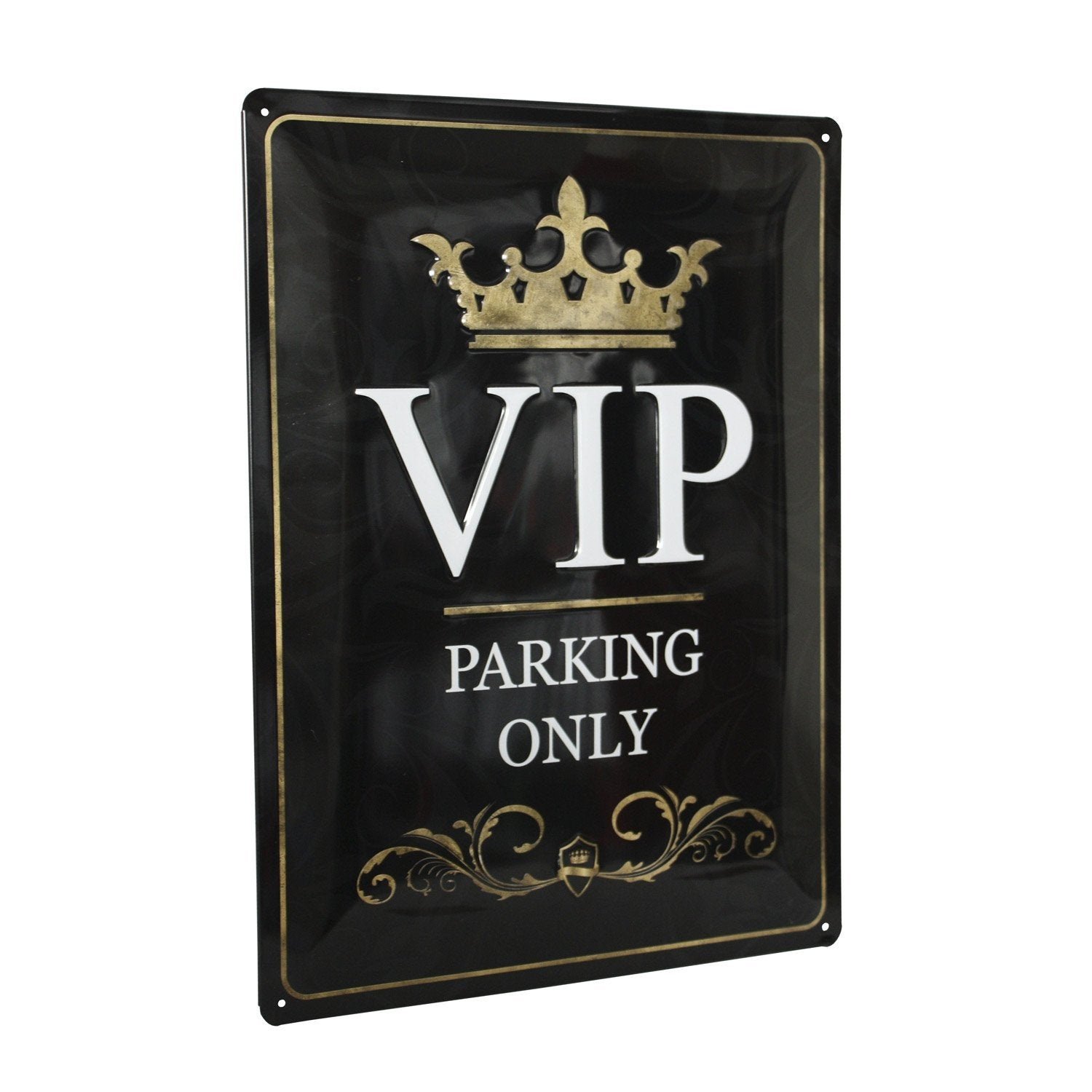 plaque m tal vip x cm leroy merlin. Black Bedroom Furniture Sets. Home Design Ideas