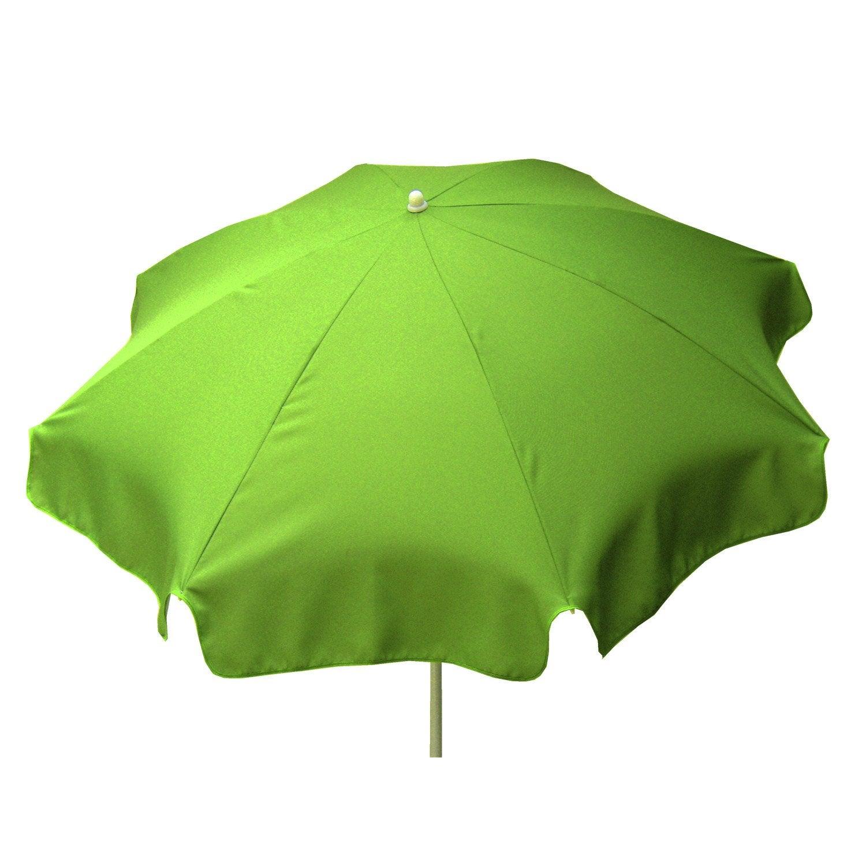 parasol droit lola vert pomme rond x cm. Black Bedroom Furniture Sets. Home Design Ideas