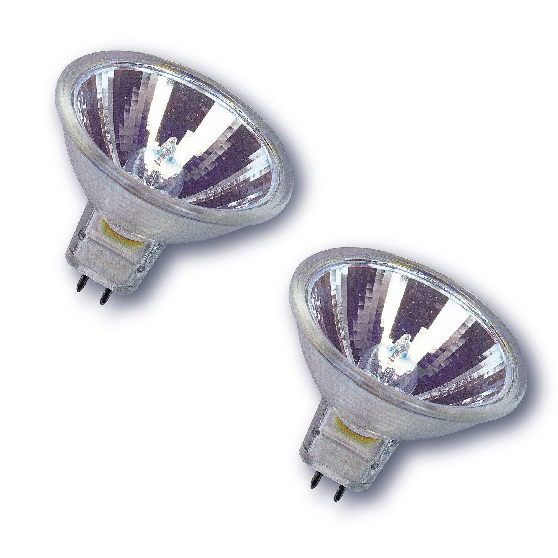 2 ampoules r flecteurs halog nes 20w 210lm quiv 20w