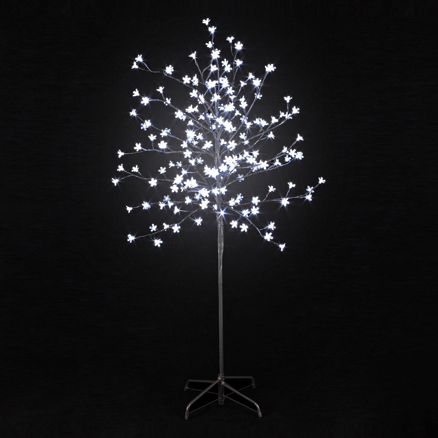 Arbre lumineux ext rieur prunus led int gr e 12 w blanc for Pot lumineux leroy merlin