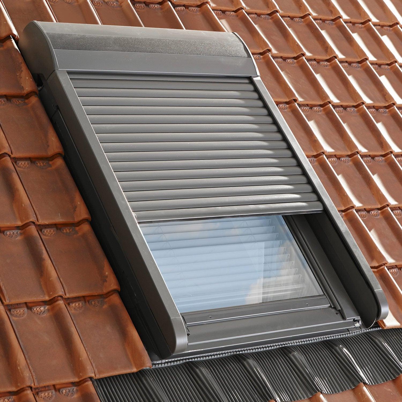 volet fen tre de toit roulant lectrique velux sml 6 leroy merlin. Black Bedroom Furniture Sets. Home Design Ideas