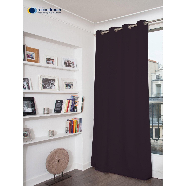 rideau occultant thermique thermique violet fonc x cm leroy merlin. Black Bedroom Furniture Sets. Home Design Ideas