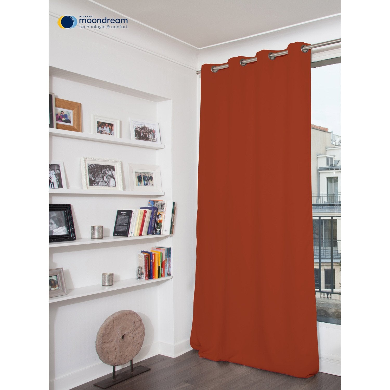rideau occultant thermique thermique rouille x cm leroy merlin. Black Bedroom Furniture Sets. Home Design Ideas