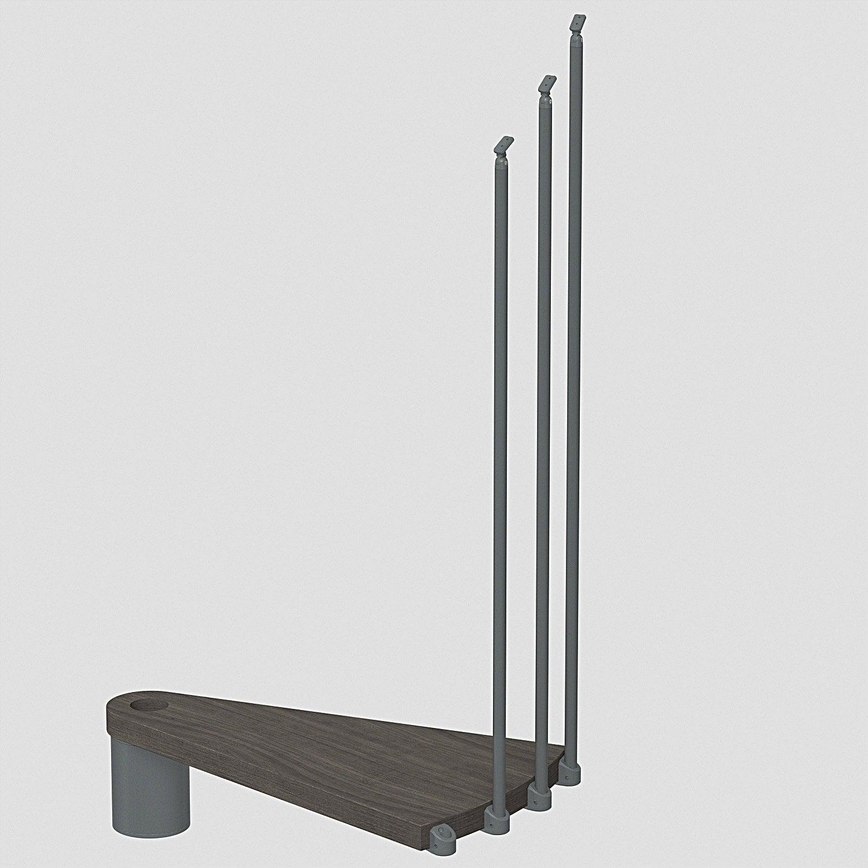 hauteur suppl mentaire pour escalier ring diam 138cm leroy merlin. Black Bedroom Furniture Sets. Home Design Ideas